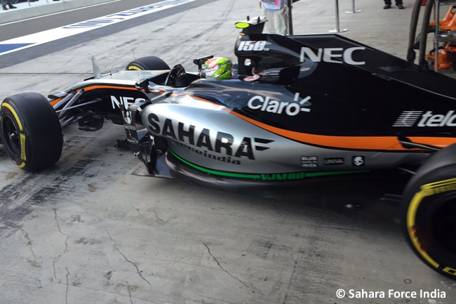 Sergio Pérez - Sahara Force India - GP Abu Dhabi 2015