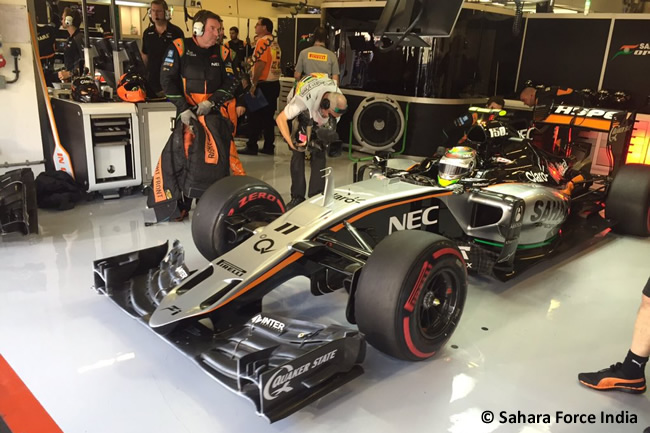 Sergio Pérez - Force India - GP Abu Dhabi 2015