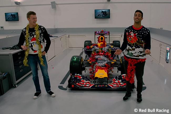Daniel Ricciardo - Daniil Kvyat - Red Bull Racing - Navidad 2015