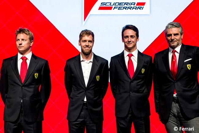 Navidad Scuderia Ferrari 2015 - Kimi Raikkonen - Sebastian Vettel - Esteban Gutiérrez - Maurizio Arrivabene
