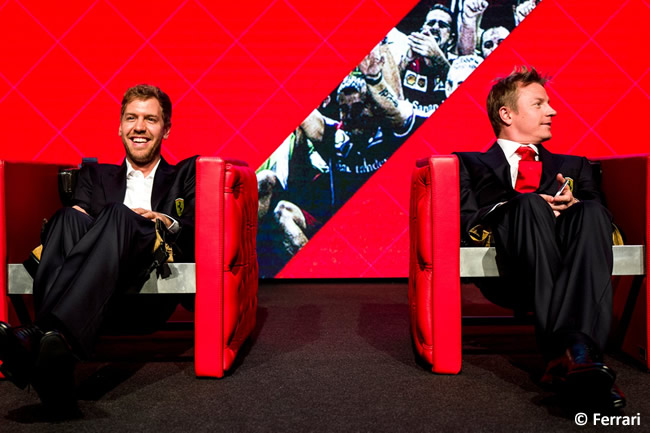 Navidad 2015 Scuderia Ferrari - Sebastian Vettel - Kimi Raikkonen