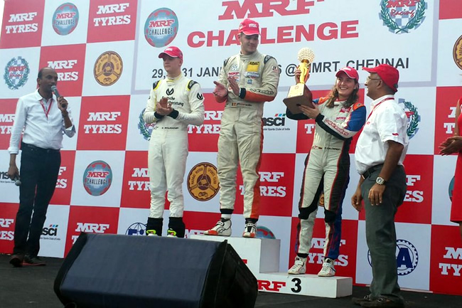 Podio Mrf Challenge Mick Schumacher - Picariello - Calderon