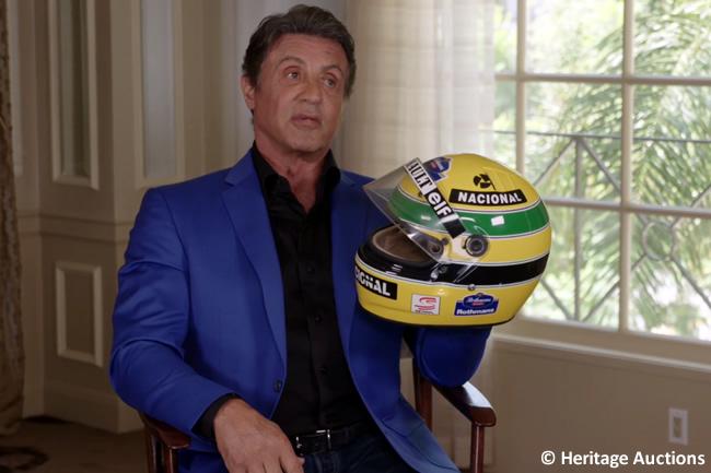 Sylvester Stallone - Ayrton Senna - Casco