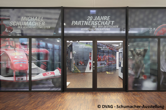 Michael Schumacher Exposición - DVAG - Schumacher-Ausstellung