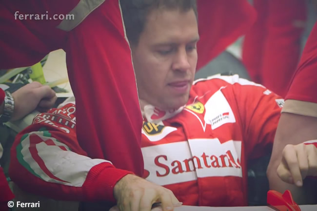 Sebastian Vettel - Scuderia Ferrari - 2016 - Asiento