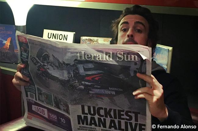 Fernando Alonso - Herald Sun - Accidente Australia