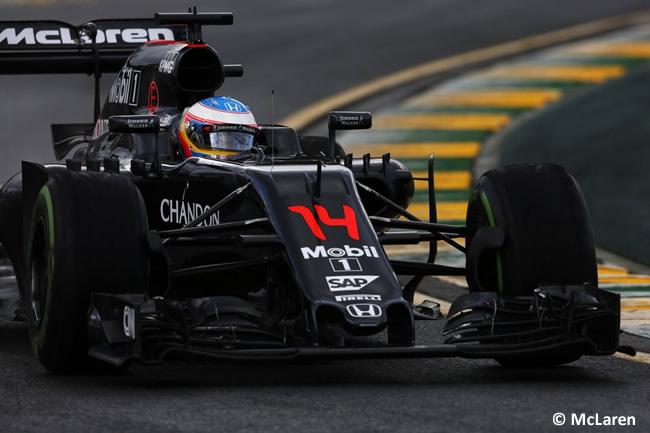 Fernando Alonso - McLaren - Honda - Entrenamientos GP Australia 2016
