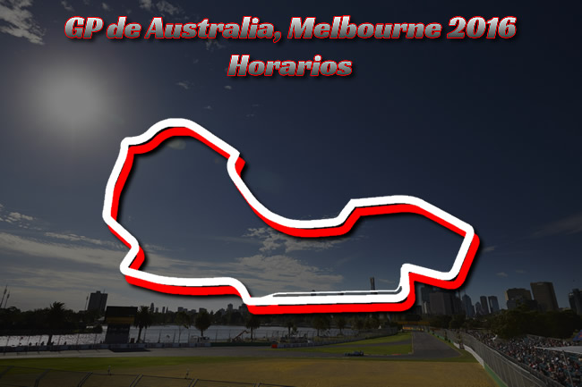 Gran Premio de Australia 2016 - Horarios