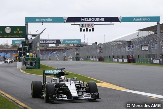Lewis Hamilton - Mercedes AMG - Entrenamientos Australia 2016