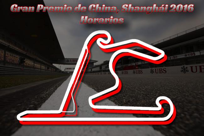 Gran Premio de China 2016 - Horarios