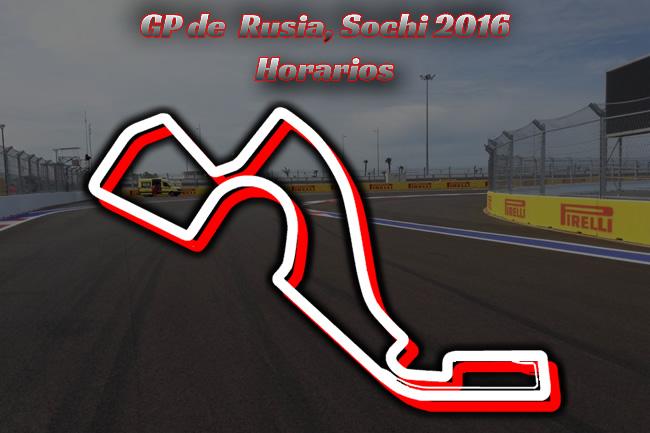 Gran Premio de Rusia 2016 - Horarios