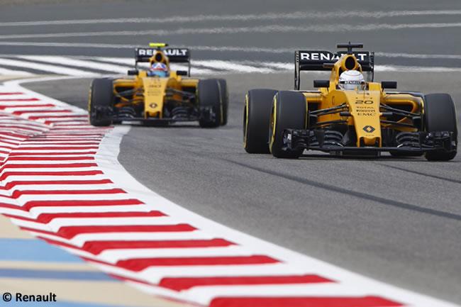 Kevin Magnussen - Jolyon Palmer - Renault - Bahréin - Entrenamientos