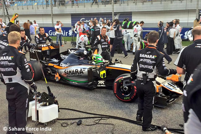 Sergio Pérez - Force India - Gran Premio Bahréin 2016