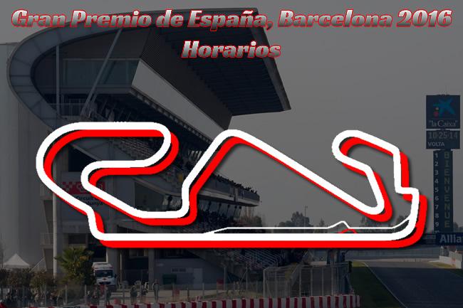 Gran Premio de España 2016 - Horarios