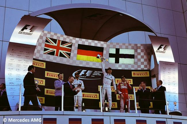 Podio - Nico Rosberg - Victoria Gran Premio de Rusia 2016