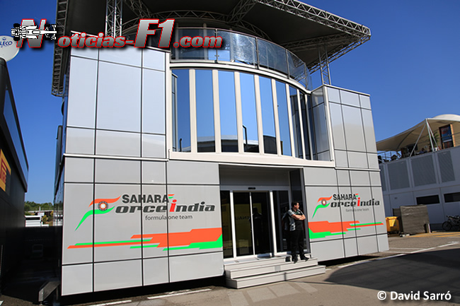 Force India - Motorhome - www.noticias-f1.com - David Sarró
