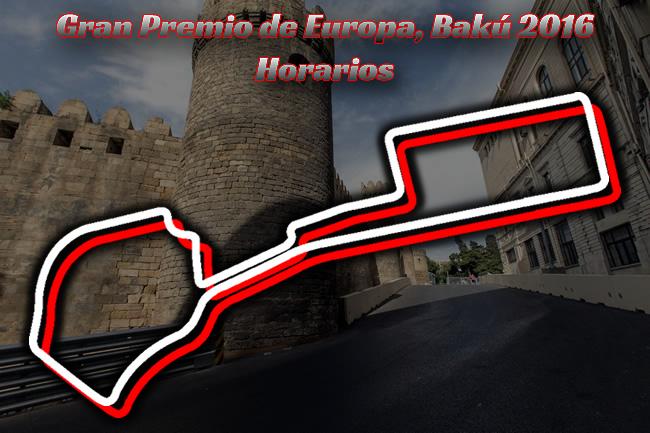 Gran Premio de Europa 2016 - Bakú - Horarios