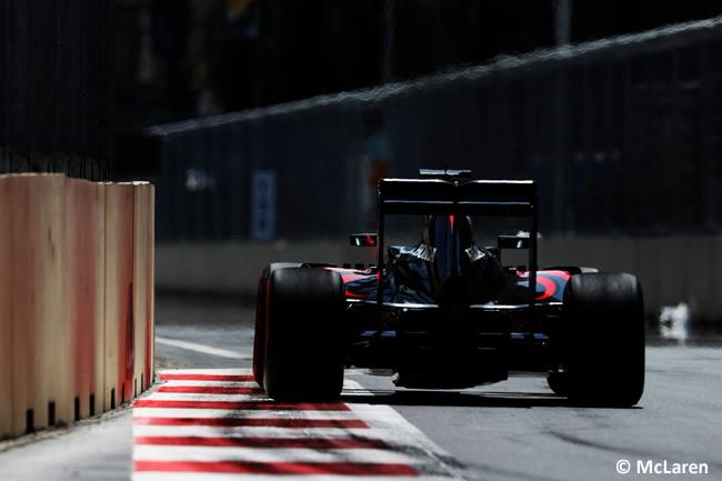 McLaren - Calificación - GP Europa - Bakú 2016