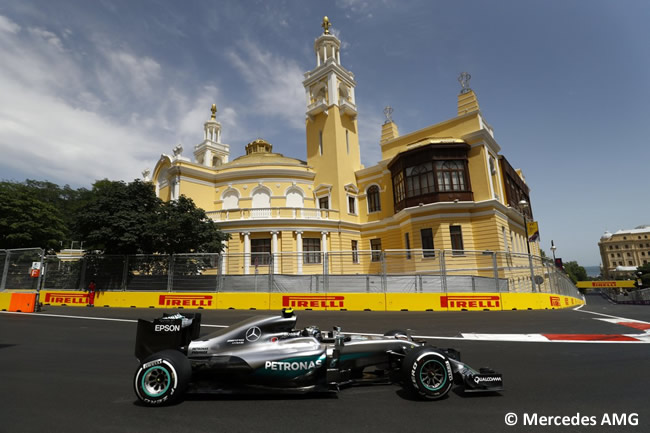 Nico Rosberg - Mercedes AMG - Calificación - GP Europa - Bakú 2016