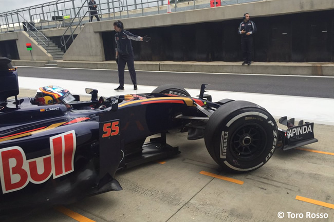 Carlos Sainz - Toro Rosso - Test Silverstone - Día 1