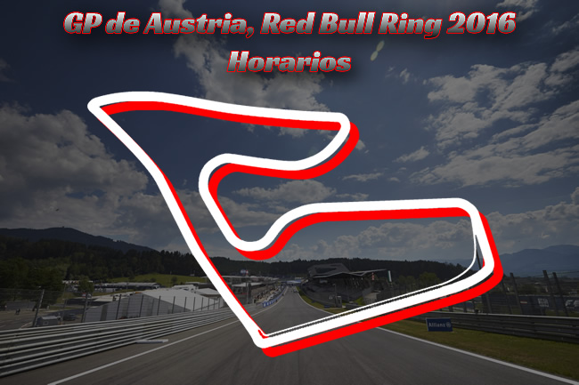 Gran Premio de Austria - F1 2016 - Horarios