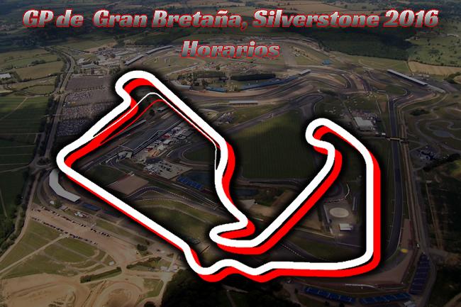 Gran Premio de Gran Bretaña 2016 - Horarios