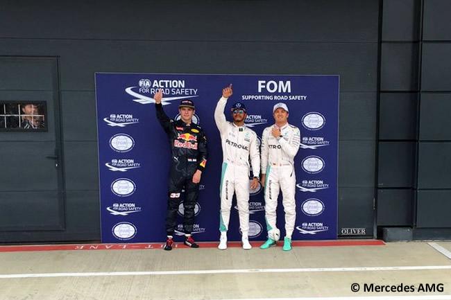 Lewis Hamilton - Nico Rosberg Mercedes AMG - Max Verstappen -Calificación - Gran Premio Gran Bretña 2016 - Pole