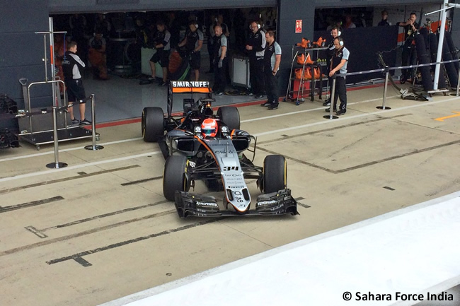 NIkita Mazepin - Force India - Test temporada Silverstone 2016 - Día 1