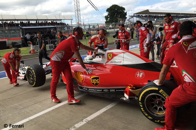 Sebastian Vettel - Scuderia Ferrari -GP Gran Bretaña 2016