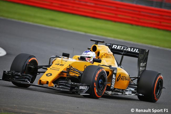 Sergey Sirotkin Renault - Test Silverstone - Día 1