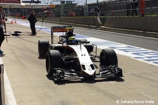 Sergio Pérez - Force India - Gran Premio de Gran Bretaña 2016 - Entrenamientos