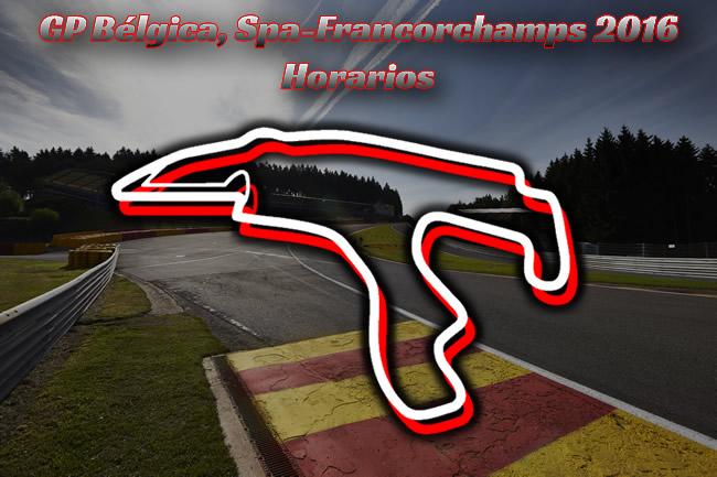 Horarios Gran Premio de Bélgica 2016 - Spa-Francorchamps