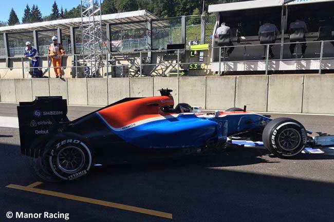 Pascal Wehrlein - Manor Racing - GP Bélgica 2016