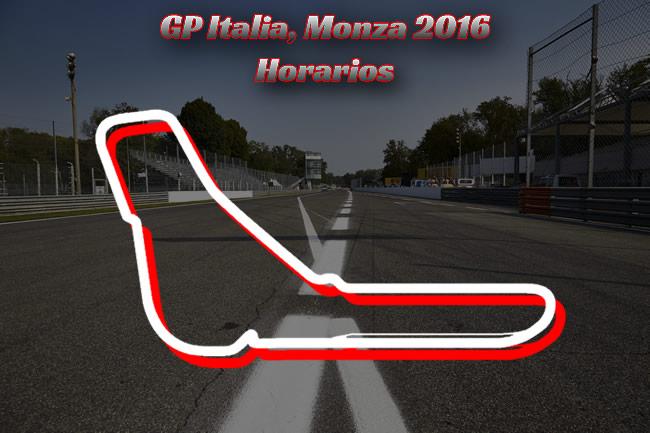 Horarios - Gran Premio de Italia 2016