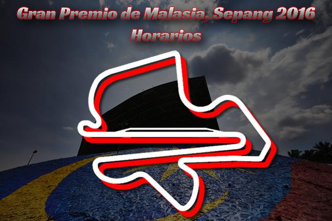 Horarios GP Malasia 2016