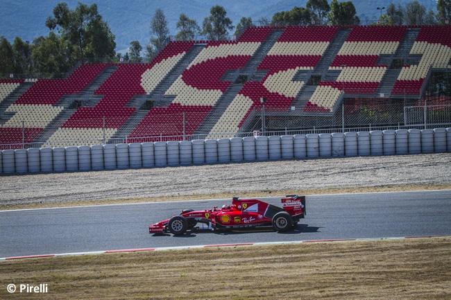 Kimi Raikkonen - Scuderia Ferrari - Test Pirelli Barcelona Día 1