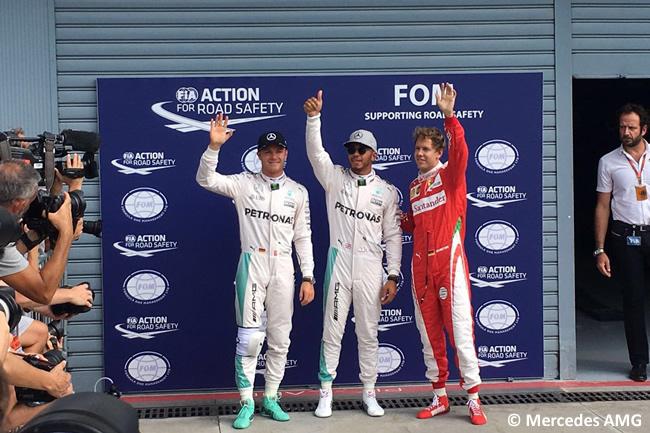 Lewis Hamilton - Nico Rosberg - Sebastian Vettel - Calificación GP Italia 2016