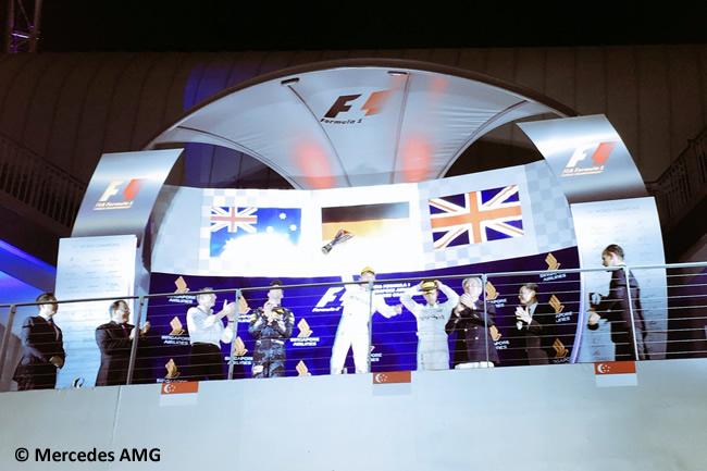 Podio Nico Rosberg - Daniel Ricciardo - Lewis Hamilton - GP Singapur 2016