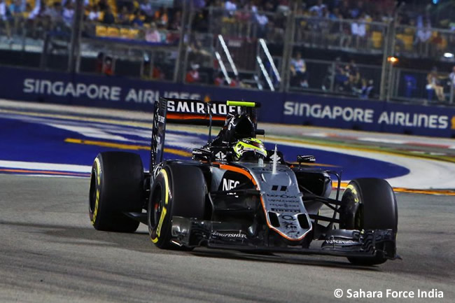 Sergio Pérez - Force India - GP Singapur 2016