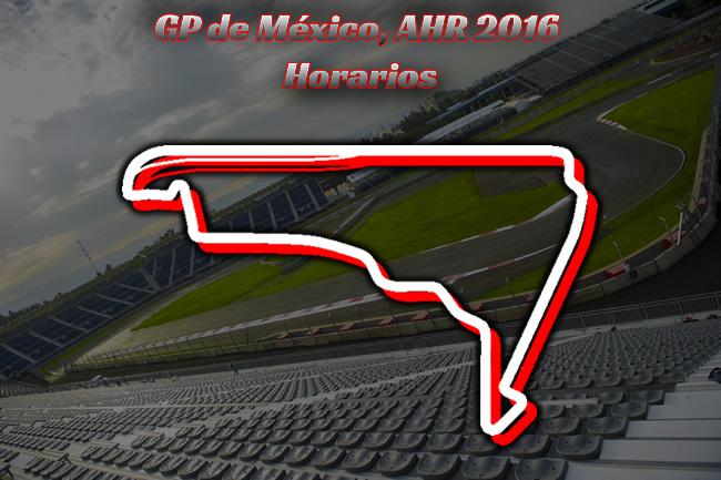 GP México 2016 - AHR - Horarios