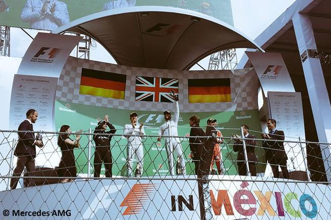 Lewis Hamilton - Nico Rosberg - Sebastian Vettel - Podio GP México 2016