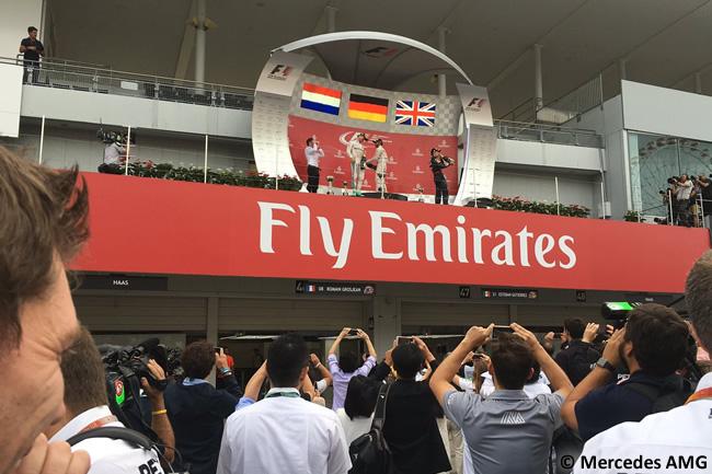 Nico Rosberg - Lewis Hamilton - Max Verstappen - Mercedes AMG - Domingo GP Japón 2016