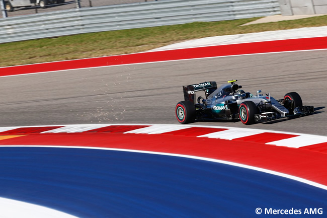 Nico Rosberg - Mercedes AMG - Viernes GP EE. UU. 2016