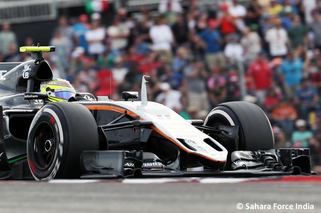 Sergio Pérez - Force India - GP EE. UU. 2016