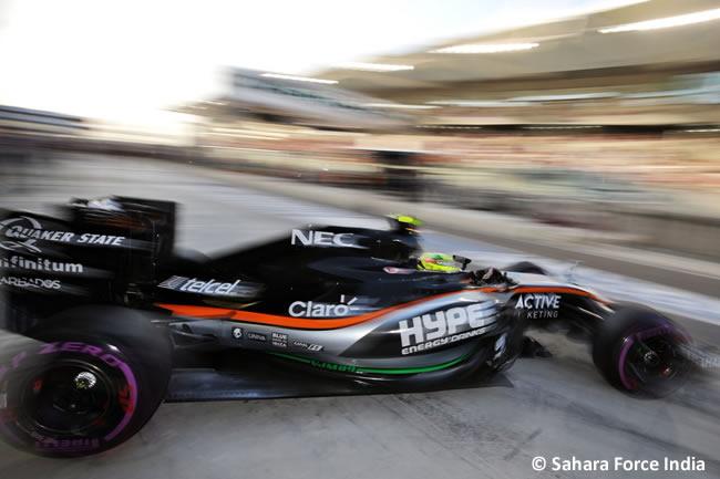 Force India - Carrera GP Abu Dhabi 2016