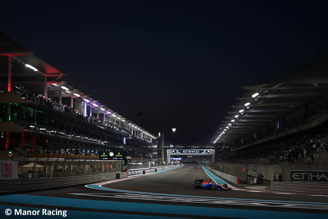 Manor Racing - Carrera GP Abu Dhabi 2016