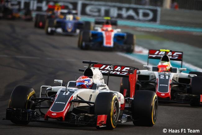 Romain Grosjean - Haas - Carrera GP Abu Dhabi 2016