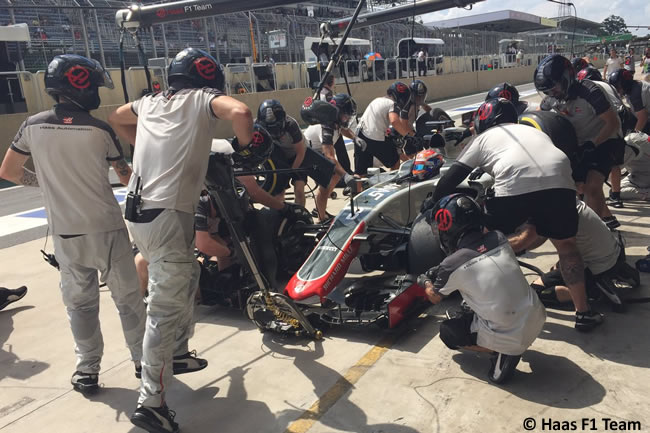 Romain Grosjean - Haas F1 - GP Brasil 2016 - Viernes