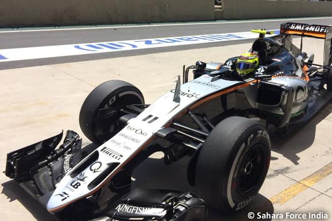 Sergio Pérez - Force India - GP Brasil 2016 - Viernes