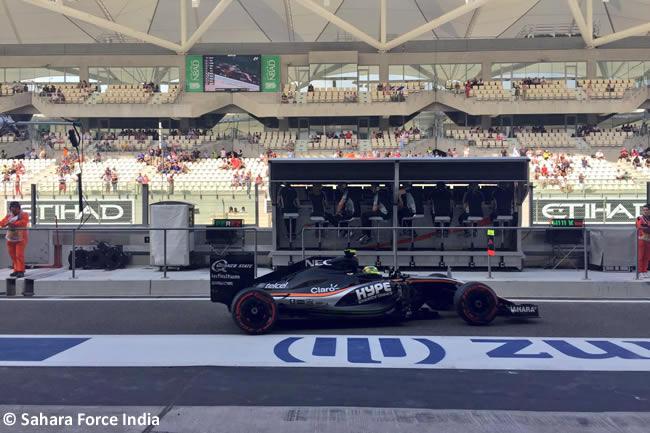 Sergio Pérez - Force India - Calificación GP Abu Dhabi 2016